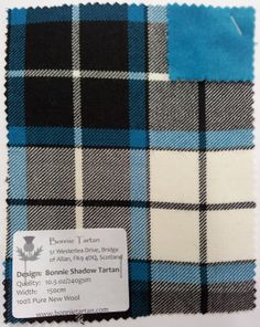 Swatch of Bonnie Shadow tartan Outlander 2016, Thistles, Dance Stuff, Tartan Plaid, Swatch, Dancing, Projects To Try, Aqua, Backgrounds