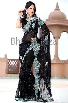 Partywear saris