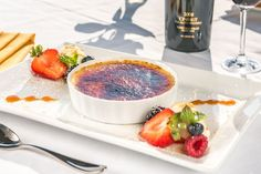 The Restaurant at Leoness Cellars' Creme Brulee. Traditional baked trinity cream infused with Madagascar vanilla bean.