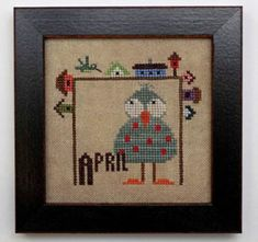 Joyful Journal April is the title of this cross stitch pattern from Heart In Hand 'Joyful Journal' series.