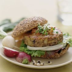 Smoked Cheddar and Lentil Burgers    Not only does this recipe contain 6 grams less fat than a Burger King hamburger, but it also contains 2 grams more protein. Talk about filling and flavorful!