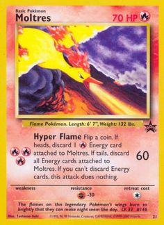 Moltres (Wizards Black Star Promos 21) - Fire - 70 HP - Basic - Artist: Toshinao Aoki. Sulfura Pokemon, Pokemon 2000, Fire Pokemon, Pokemon Movies, Old Pokemon Cards, Pokemon Cards For Sale, Birthday Pikachu, Lugia, Black Star