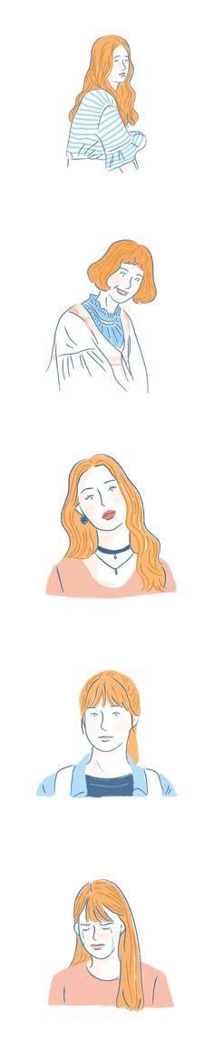 드라마 '청춘시대' 일러스트 - 그래픽 디자인 · 일러스트레이션, 그래픽 디자인, 일러스트레이션, 그래픽 디자인, 일러스트레이션