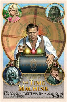 The Time Machine (1960) http://www.amazon.com/gp/product/B00IYJFB2G/ref=as_li_tl?ie=UTF8&camp=1789&creative=390957&creativeASIN=B00IYJFB2G&linkCode=as2&tag=selfemploym-20&linkId=J4APKGECINTCSF3A