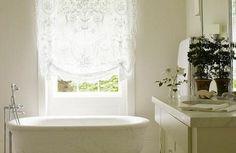 Fenster gestaltung leicht gardinen rollos badezimmer