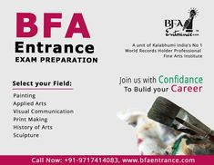 BFA Entrance Coaching Classes: BFA Entrance Exam Preparation Classes in Delhi -Un. Top Colleges, Record Holder, Bachelor Of Fine Arts, Entrance Exam, World Records, Visual Communication, Coaching, How To Apply, The Unit
