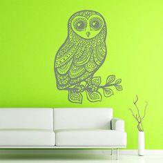 Wall Decal Owl Bird Vinyl Sticker Decals Home Decor by BestDecals