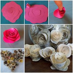 DIY Easy Paper Rose | iCreativeIdeas.com LIKE Us on Facebook ==> https://www.facebook.com/icreativeideas