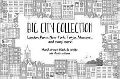 Big Hand Drawn City Collection by Franzi on @creativemarket