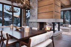 Reed Design Group LLC is a full service interior design firm located in the Vail Valley of Colorado. Elisabeth Reed brings her knowledge of interior architecture to bear in the art of interior design. House Design, Modern Lodge, Interior, Contemporary Decor, Home Decor, Contemporary House, Modern Interior Design, Interior Design, Rustic House