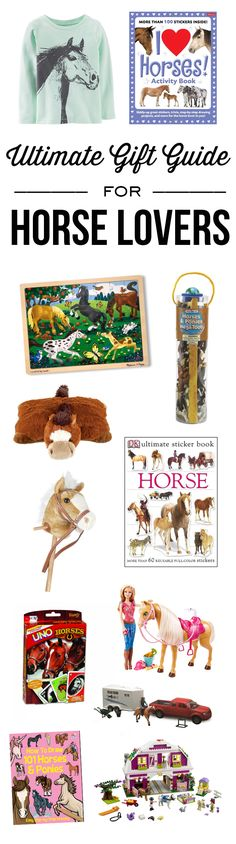 This gift guide is FULL  ideas for the horse lover on your list - from clothing, games, books and more - you'll find it all in this Ultimate Gift Guide for Horse Lovers!