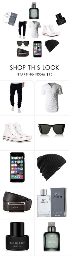 """Men's Casual"" by creativeness-duhhhh on Polyvore featuring LE3NO, Converse, Yves Saint Laurent, Off-White, Burton, Prada, Lacoste, Kenneth Cole, Calvin Klein and men's fashion"