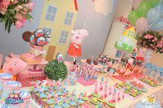 Peppa Pig themed birthday party via Kara's Party Ideas KarasPartyIdeas.com #peppapig #peppapigparty #peppapigcake (18)