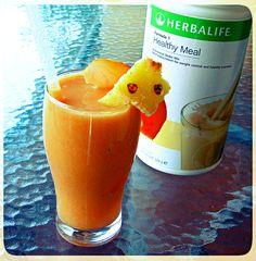 Orange You Delicious Tropical Herbalife Smoothie Shake With banana, papaya, and pineapple. Full orange-you-delicious-tropical-smoothie Herbalife Healthy Meal, Herbalife Shake Recipes, Protein Shake Recipes, Herbalife Nutrition, Smoothie Recipes, Protein Shakes, Healthy Smoothies, Healthy Drinks, Herbal Life Shakes