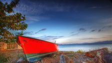 Red boat on the isle of lesvos gulf gera -  Wallpaper! Best HD Desktop backrounds, Top and High Quality widescreen in 4k or Ultra High Definition resolution! #1585957.