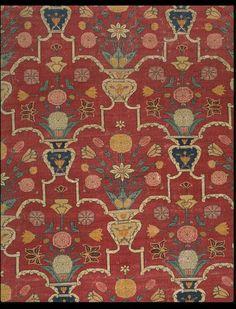 Carpet Portion of a darbar carpet Date: ca. 1650 (made) Place: Lahore Pakistan Length: 356 cm, Width: 196 cm Museum number: IM.67-1930