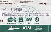 Barcelona T10 Travel Card Cost