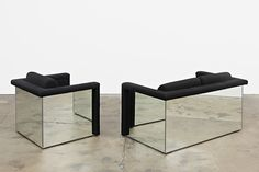 Robert and Trix Haussmann, 'Lounge Seating', 1988 Mirrored sofa and chairs