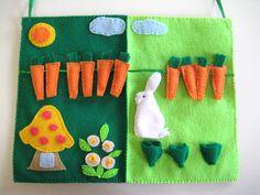 Lapin livre calme jardin de Bunny feutres Board pour par WinterEma, $55.00