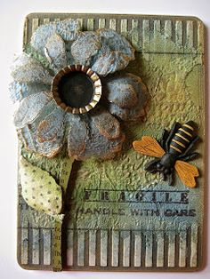 Pictures with Instructions -  embossing paste...