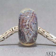 Purple OOAK Artisan Handmade Lampwork Euro Charm by AKDlampwork, $24.00