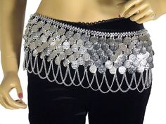 Fancy Tribal Fusion Belt Belly Dancing Coin Metal Hip Ladies Dancer Accessory | eBay