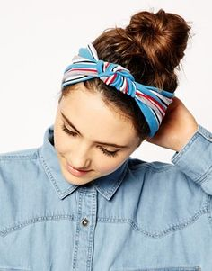 ASOS Turban Headband With Stripe Knot