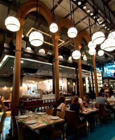 Seafood Restaurant with Elements of Arab Architecture - InteriorZine
