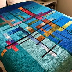 modern quilting designs The design is modern and minimal, the colors are reminiscent of the and the end result is this quilt. It is, as you can see, constructed of band Modern Quilting Designs, Modern Quilt Patterns, Patchwork Quilting, Scrappy Quilts, Owl Quilts, Bargello Quilts, Art Textile, Contemporary Quilts, Free Motion Quilting