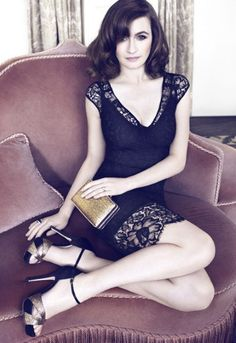 Oh black lace. Emily Mortimer lands new role as face of L.K. Bennett.