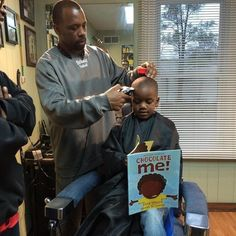 Kids are bookin' it to this barber shop, which gives $2 off to kids who read to barber duirng cut.