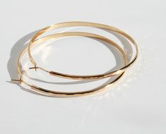 Handmade thick hammered classy hoops with locking backs Wide and perfect to dress up or down! Width inch) Size inch All Gold Filled Gold Hoop Earrings, Gold Hoops, Mixed Metals, Metal Working, Bangles, Sterling Silver, Pretty, Handmade, Jewelry