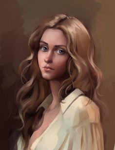portrait of a girl by sharandula