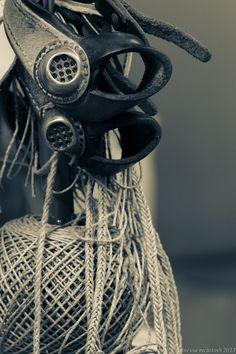 Tools of the trade - sailmakers palms... and linen yarn. Msails - Beckholmen, Stockholm Sweden