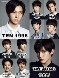 I want to see ten with his reaaally long hair pre debut photo and i want hansol to debut he is such a great dance and has a sense of humor and funny and is a visual but sm won't let him debut WHY SM WHY? Bts Got7, Johnny Seo, Nct Group, Ten Chittaphon, Sm Rookies, Nct Life, Jisung Nct, Nct Taeyong, Kpop Groups