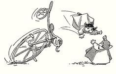 Tutte le dimensioni |Dumpies - Wild Bicycle - illustrated by Frank Ver Beck (1897), via Flickr.
