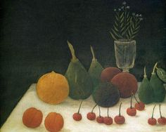 Henri Rousseau - Still-life with fruits