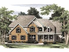 Eplans New American House Plan - Elegant Introduction - 3322 Square Feet and 5 Bedrooms from Eplans - House Plan Code HWEPL09342