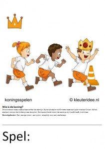 Kaarten voor koningsspelen no.2 , kleuteridee.nl
