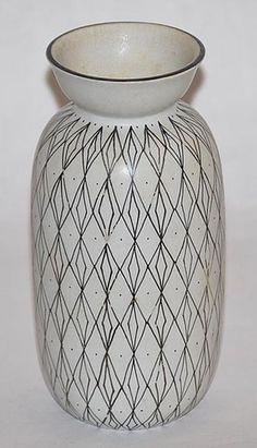 Filigran Gustavsberg Swedish Pottery Decorated Vase | eBay
