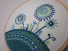 Blue flowers #embroidery