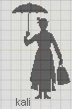 mary popins cross stitch patterens | Cross Stitch