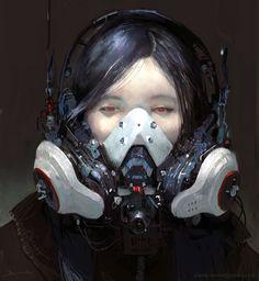 Cyberpunk portrait (by me) Cyberpunk 2077, Cyberpunk Kunst, Character Inspiration, Character Art, Character Design, Character Ideas, Sci Fi Characters, Face Characters, Cyberpunk Character