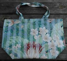 Shopping Tote Large-Eco Friendly-Grocery Bag-Diaper Bag-Beach Bag-Carry On-Library Tote-Craft Bag-Market Bag-Reusable-Washable-Flowers by sewlittletime2009 on Etsy