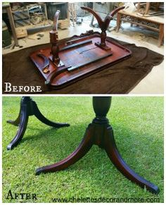 Duncan Phyfe Dining Table Repair & Refinish for the McBrayer Family