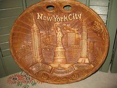 Vintage assiette souvenir de new york city  de flèche nouveauté Co de la boutique NorDass sur Etsy