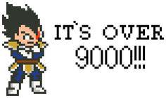 Dragon Ball Z Over 9000 cross stitch pattern PDF by lexysaurusrex on Etsy
