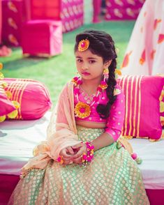 """When everyone is obsessing over the bride and you've got nobody to enjoy Chaat with. Kids Party Wear Dresses, Kids Dress Wear, Wedding Dresses For Kids, Kids Gown, Dresses Kids Girl, Kids Wear, Baby Dresses, Fancy Dress, Kids Lehanga Design"