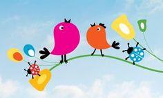 Malen, schneiden, kleben: Da machen Kinder gerne mit. Unser Frühlingsbild können Sie individuell an ihr Fenster anpassen.