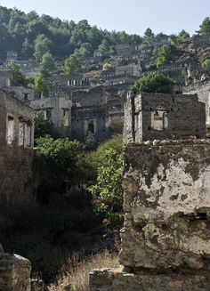 The Kayaköy village in Turkey – abandoned during a population swap with Greece, is now preserved as a museum